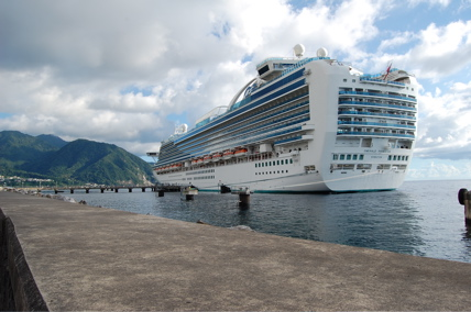 Emerald Princess docked at Dominica